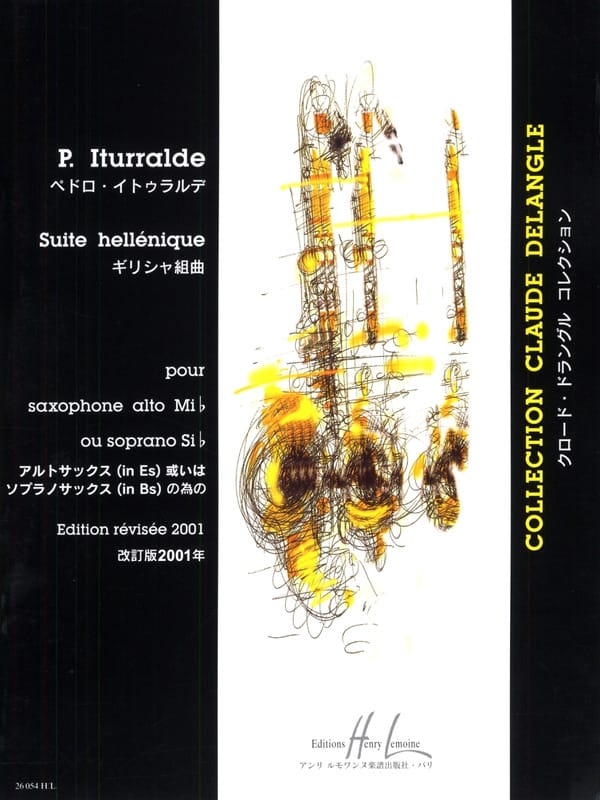 Pedro Iturralde - Hellenic Suite - Partition - di-arezzo.co.uk