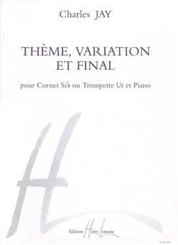 Thème, Variation Et Final - Charles Jay - Partition - laflutedepan.com