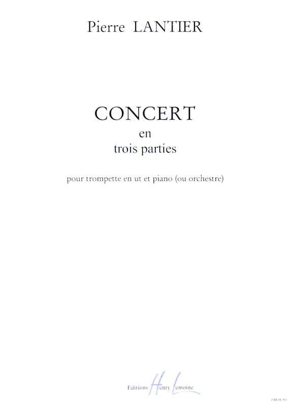 Concert en 3 parties - Pierre Lantier - Partition - laflutedepan.com