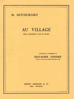Au village - MOUSSORGSKI - Partition - Saxophone - laflutedepan.com