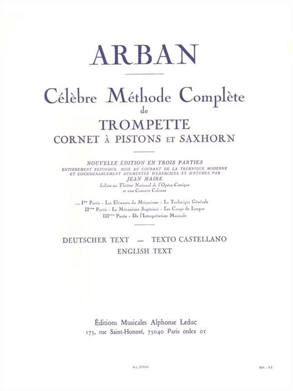 Jean-Baptiste Arban - Volume 1 Method - Partition - di-arezzo.co.uk