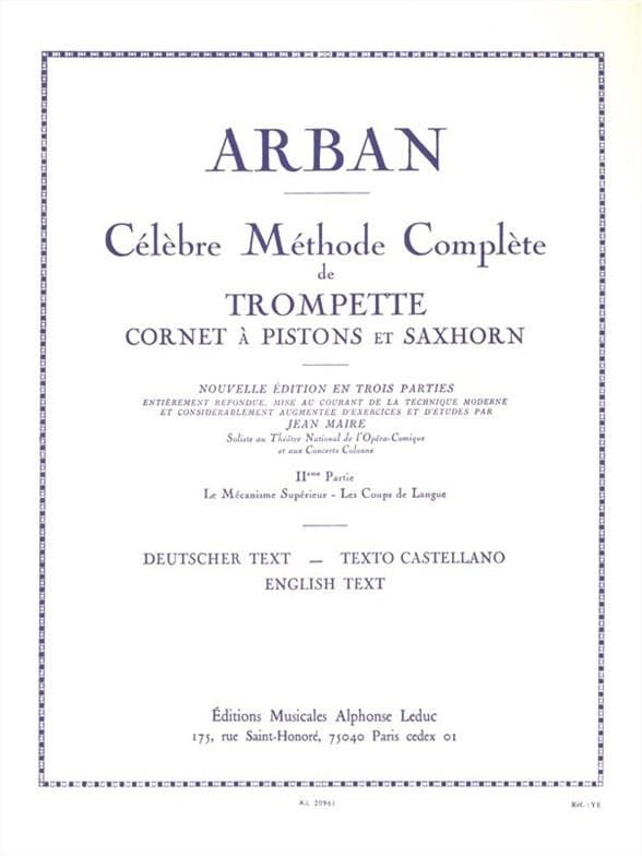 Jean-Baptiste Arban - Volume 2 Method - Partition - di-arezzo.co.uk