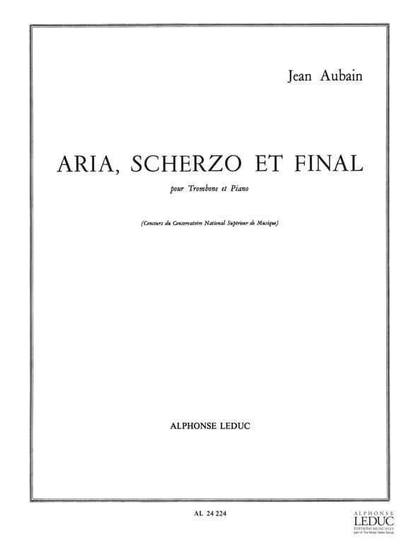Aria Scherzo Et Final - Jean Aubain - Partition - laflutedepan.com