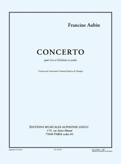 Concerto - Francine Aubin - Partition - Cor - laflutedepan.com