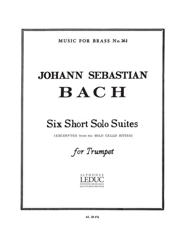 Six Short Solo Suites - BACH - Partition - laflutedepan.com