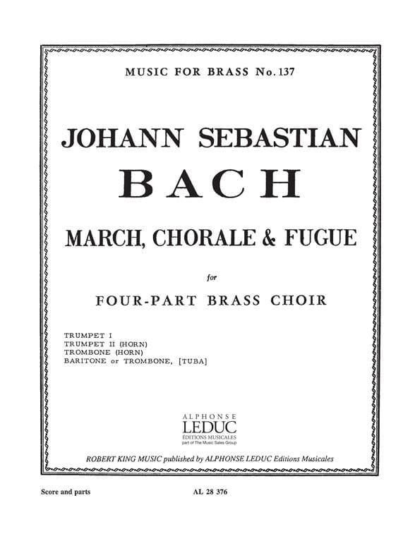 BACH - March choir - fugue - Partition - di-arezzo.com