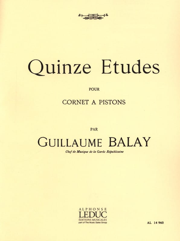 Guillaume Balay - 15 Studies - Partition - di-arezzo.co.uk