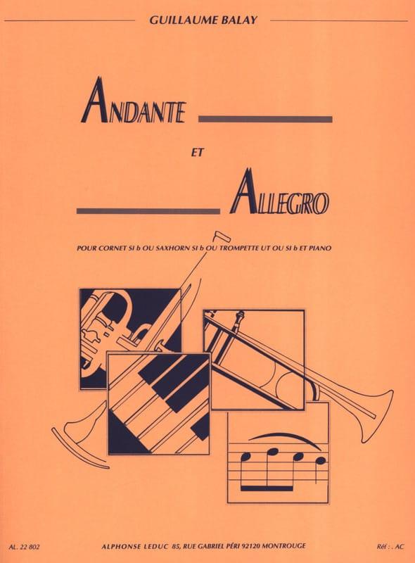 Andante Et Allegro - Guillaume Balay - Partition - laflutedepan.com