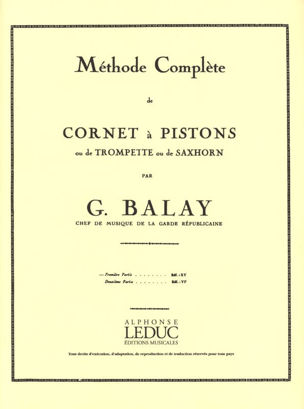 Guillaume Balay - Complete Method Volume 1 - Partition - di-arezzo.co.uk