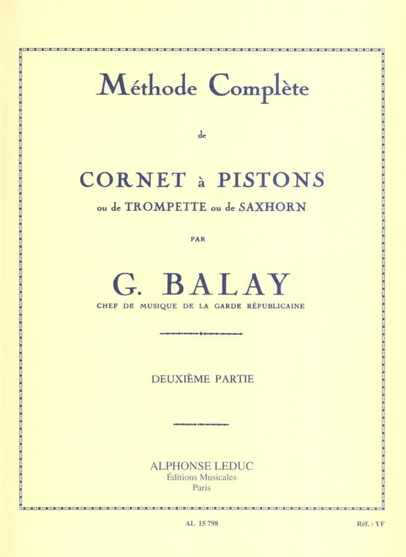 Guillaume Balay - Complete Method Volume 2 - Partition - di-arezzo.co.uk