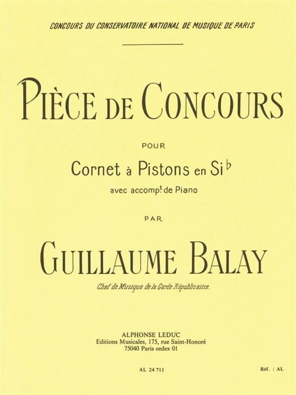Guillaume Balay - Competition piece - Partition - di-arezzo.co.uk