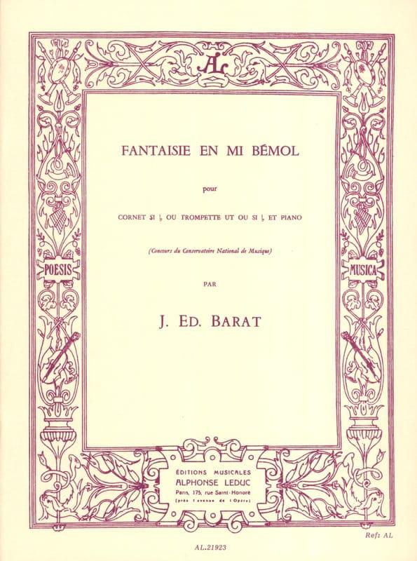 Joseph Eduard Barat - Fantasy In E Flat - Partition - di-arezzo.es