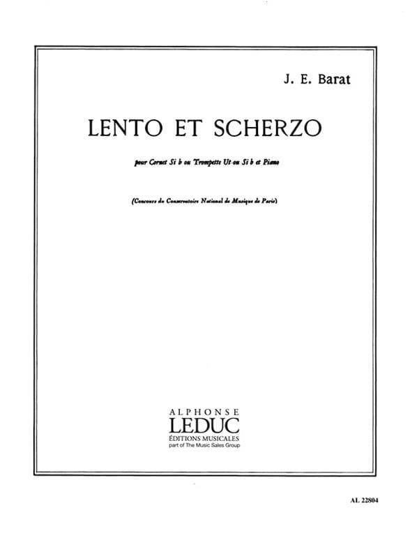 Joseph Eduard Barat - Lento y Scherzo - Partition - di-arezzo.es