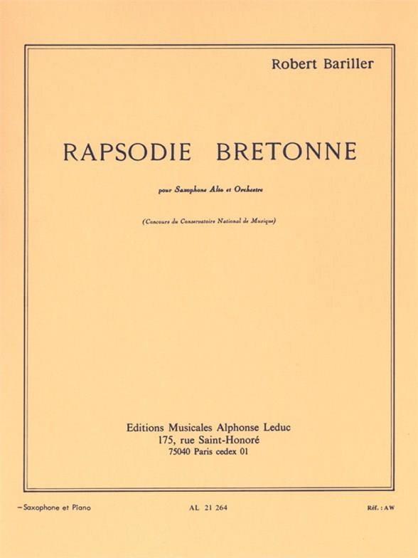 Bariller - Rapsodie Breton - Partition - di-arezzo.com