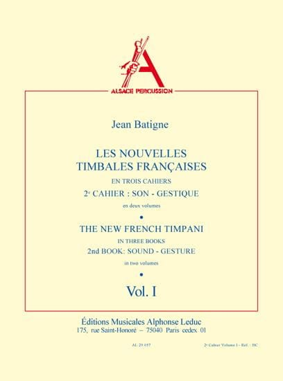 Nouvelles Timbales Francaises Volume 1 - laflutedepan.com