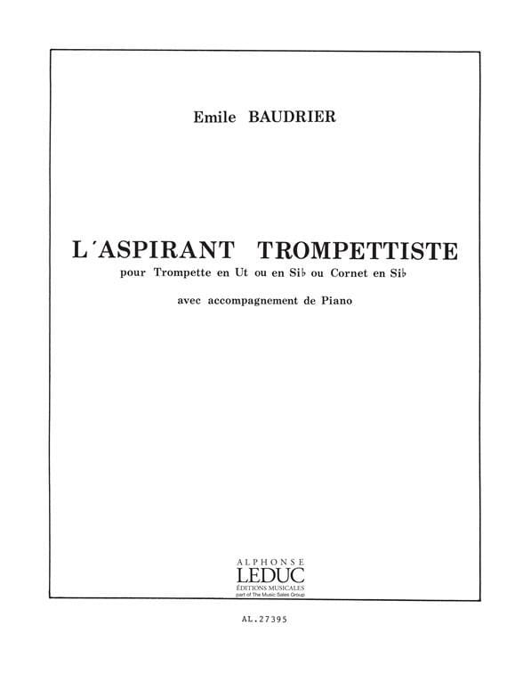 Emile Baudrier - The aspiring Trumpeter - Partition - di-arezzo.co.uk