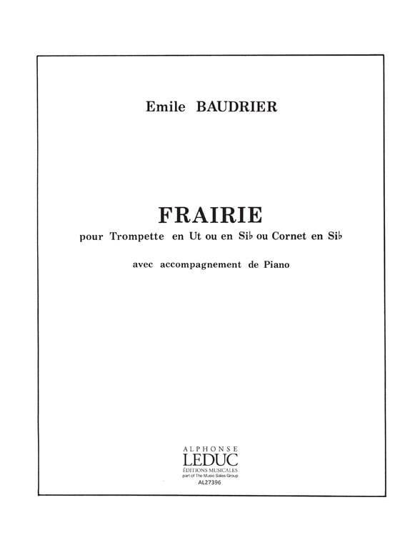 Emile Baudrier - Frairie - Partition - di-arezzo.co.uk