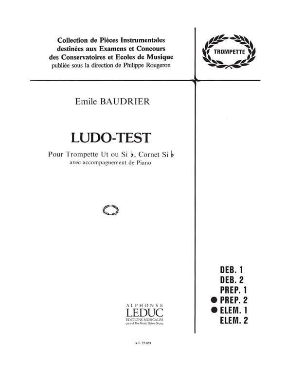 Emile Baudrier - Ludo test - Partition - di-arezzo.co.uk