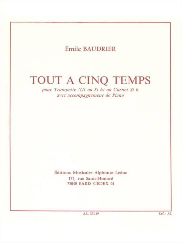 Emile Baudrier - All Five Times - Partition - di-arezzo.co.uk