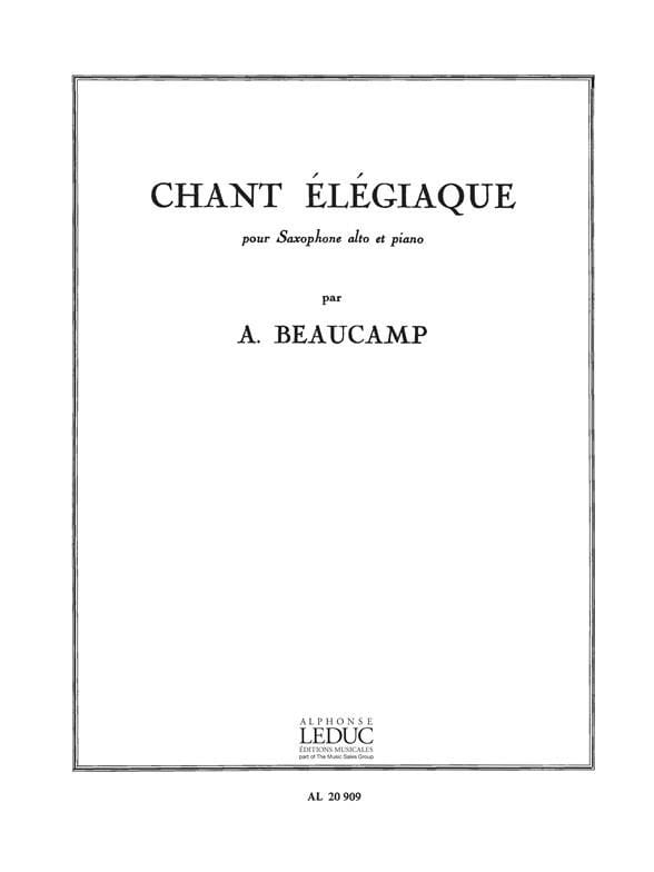 Chant Elégiaque - Albert Beaucamp - Partition - laflutedepan.com