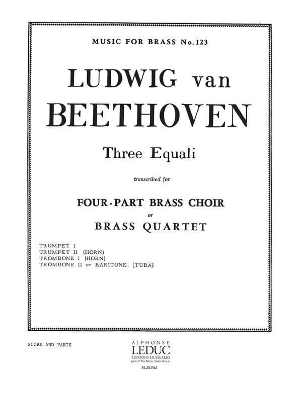 Three Equali - BEETHOVEN - Partition - laflutedepan.com