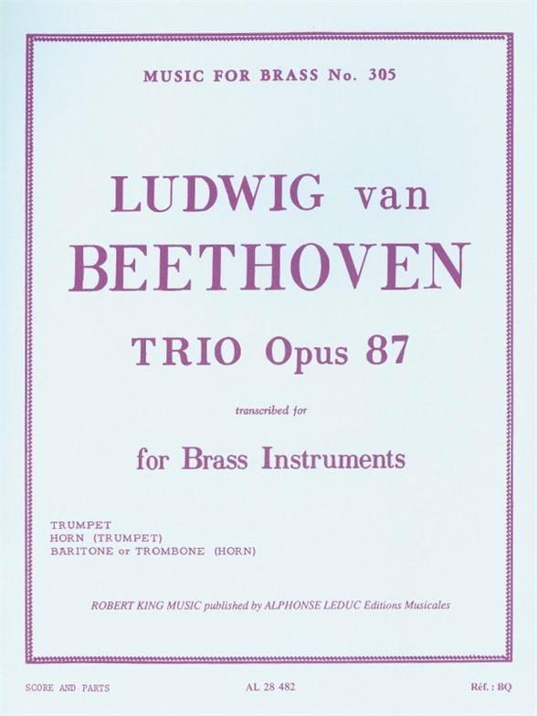 Trio Opus 87 - BEETHOVEN - Partition - laflutedepan.com