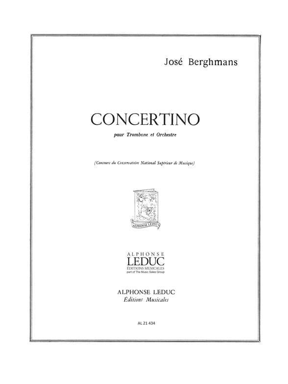 José Berghmans - Concertino - Partition - di-arezzo.fr