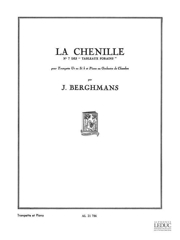 José Berghmans - La Chenille - Tableaux Forains N° 7 - Partition - di-arezzo.fr