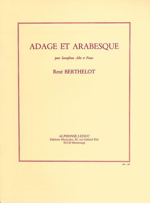 Adage Et Arabesque - Berthelot - Partition - laflutedepan.com