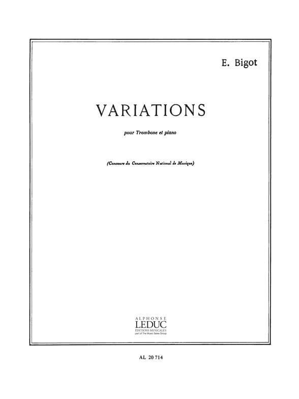 Eugène Bigot - variations - Partition - di-arezzo.co.uk