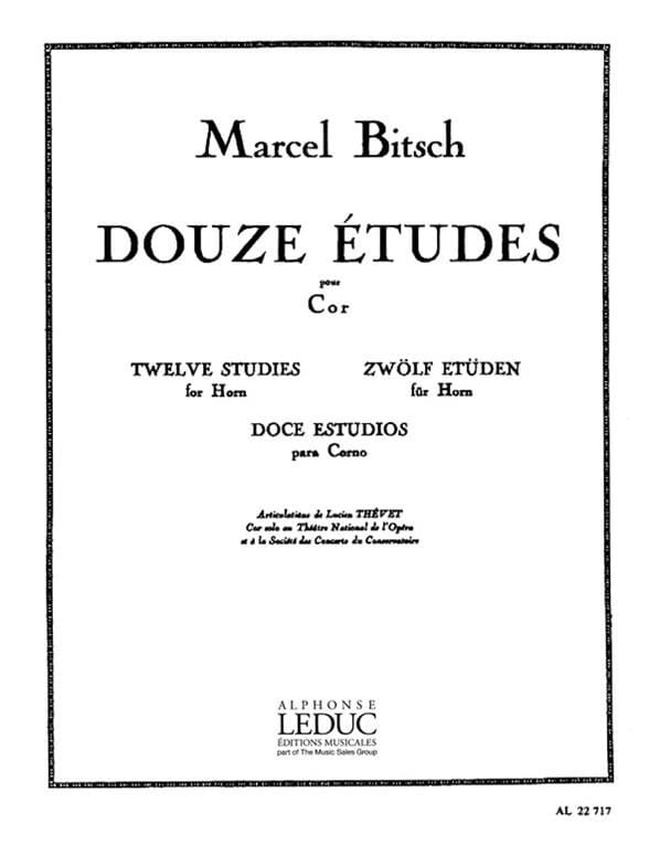 Marcel Bitsch - 12 Studies - Partition - di-arezzo.co.uk