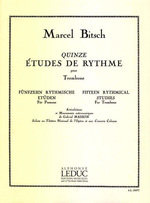 Marcel Bitsch - 15 Rhythm Studies - Partition - di-arezzo.co.uk