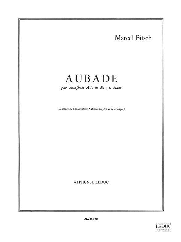 Marcel Bitsch - Aubade - Partition - di-arezzo.co.uk
