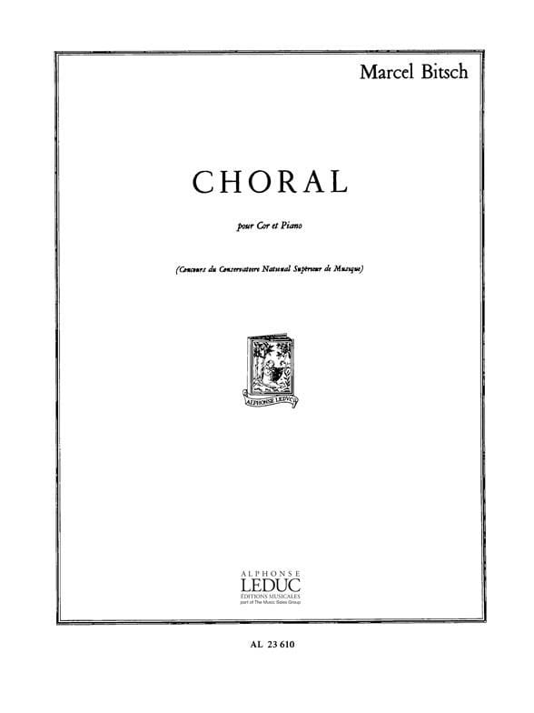 Marcel Bitsch - Choral - Partition - di-arezzo.co.uk