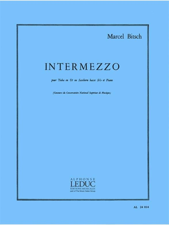 Marcel Bitsch - Intermezzo - Partition - di-arezzo.co.uk