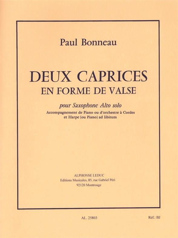 Paul Bonneau - Deux Caprices En Forme De Valse - Partition - di-arezzo.fr