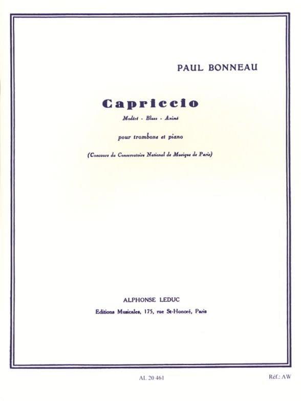 Paul Bonneau - Capriccio - Partition - di-arezzo.fr