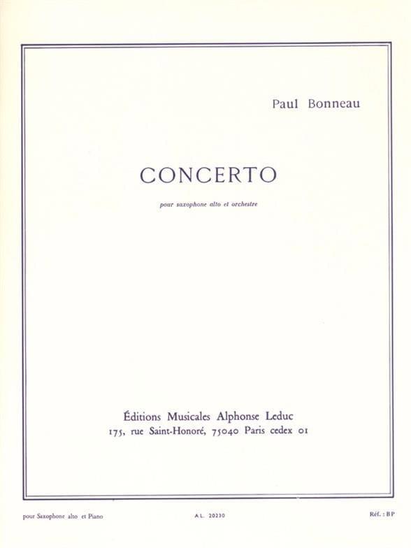 Paul Bonneau - Concerto - Partition - di-arezzo.fr