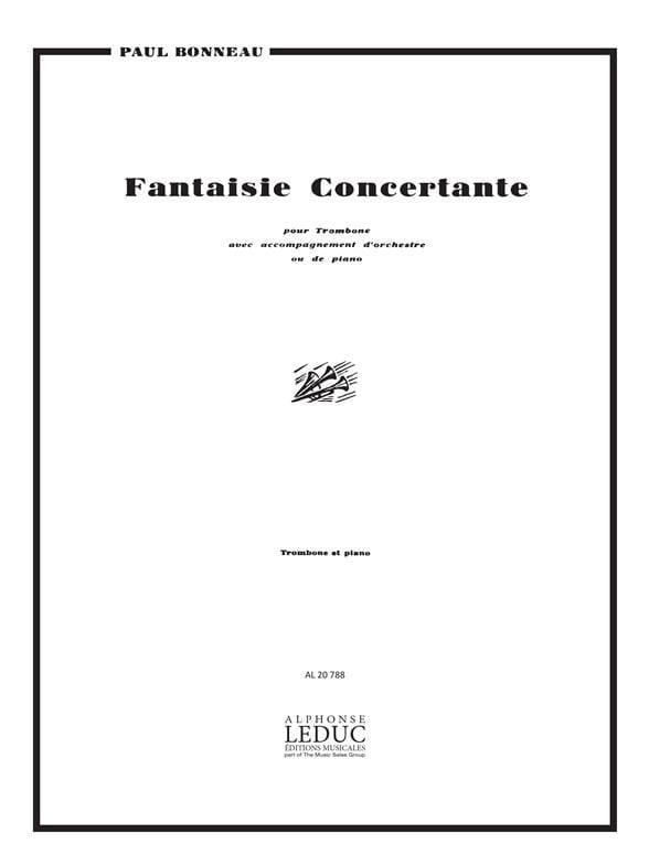 Paul Bonneau - Fantaisie Concertante - Partition - di-arezzo.fr