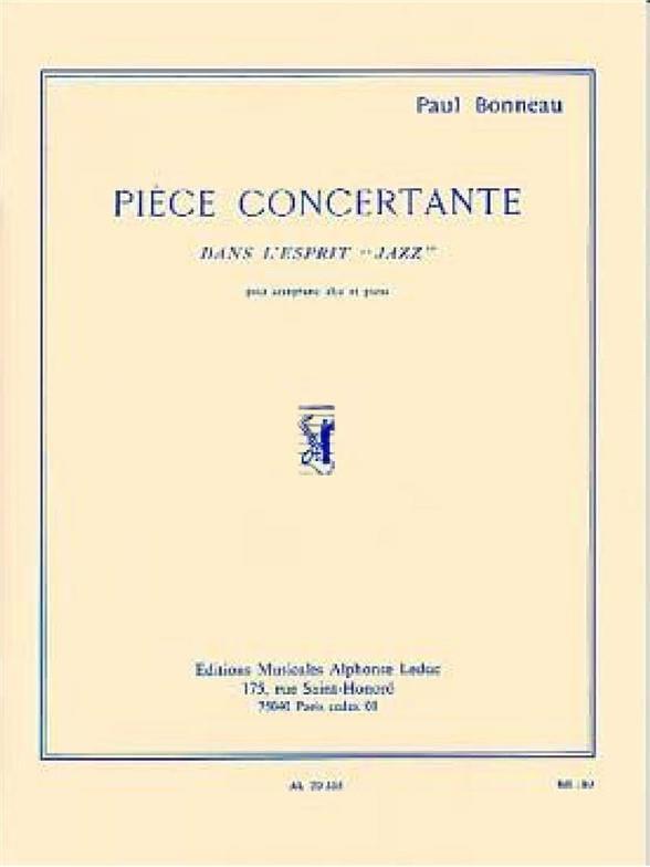 Paul Bonneau - Pièce Concertante - Partition - di-arezzo.fr
