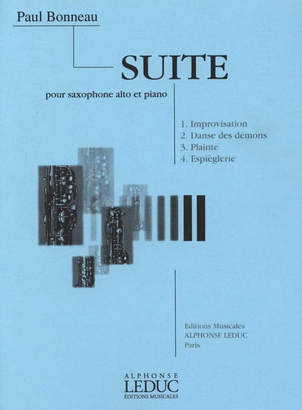 Suite - Paul Bonneau - Partition - Saxophone - laflutedepan.com
