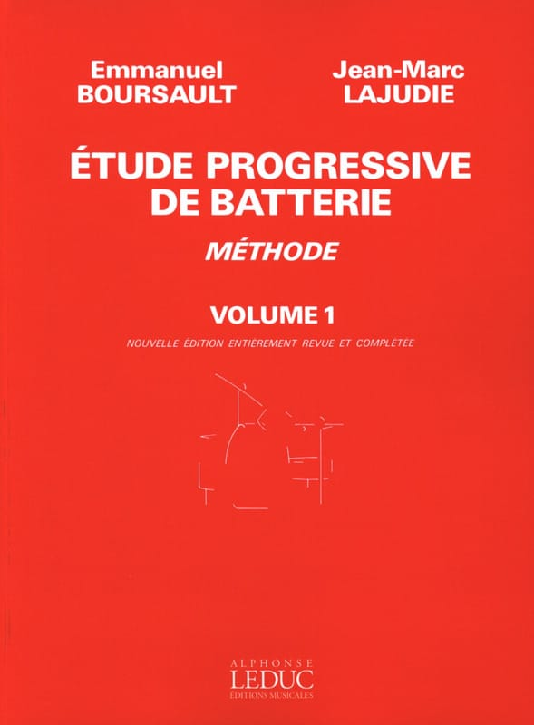 BOURSAULT - LAJUDIE - Progressive Battery Study - Volume 1 Method - Partition - di-arezzo.co.uk