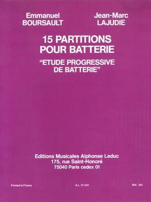 15 Partitions Pour Batterie - Etude Progressive - laflutedepan.com
