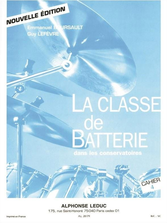 BOURSAULT - LEFEVRE - The battery class in conservatories notebook 4 - Partition - di-arezzo.co.uk