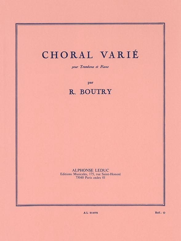 Roger Boutry - Varied Choral - Partition - di-arezzo.co.uk