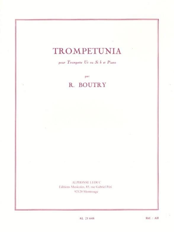 Roger Boutry - Trompetunia - Partition - di-arezzo.co.uk