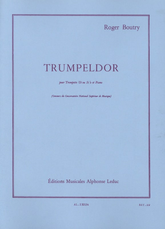Roger Boutry - Trumpeldor - Partition - di-arezzo.jp