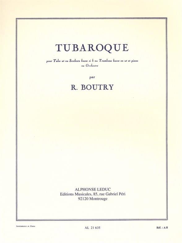 Roger Boutry - Tubaroque - Partition - di-arezzo.jp