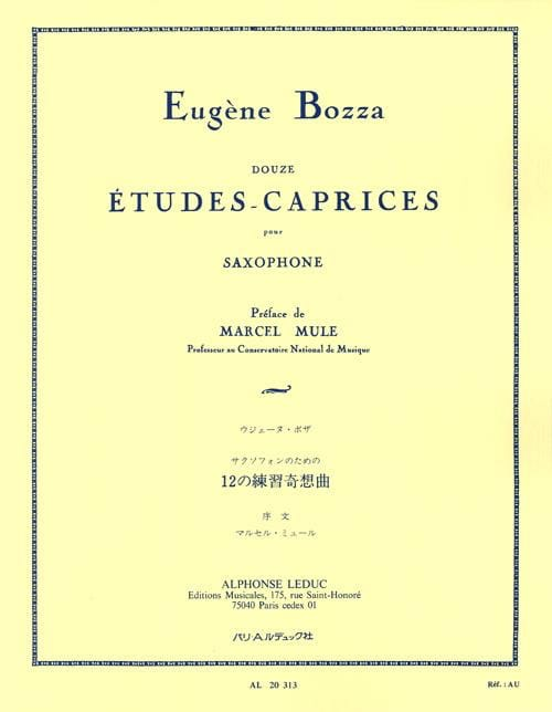 Eugène Bozza - 12 Studies-Caprices - Partition - di-arezzo.com