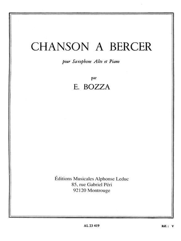 Chanson à Bercer - Eugène Bozza - Partition - laflutedepan.com